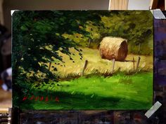 Watercolor Landscape, Landscape Paintings, Art Hoe Aesthetic, Vintage Cartoon, Small Paintings, Gouache, Painting Inspiration, Art Pictures, Farms