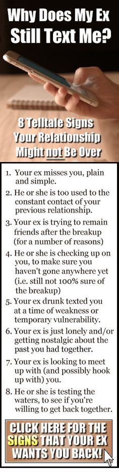 How do you know your ex girlfriend wants you back