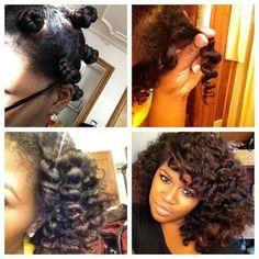 Two strand twist + Bantu knot