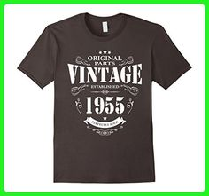 Mens Established in 1955 perfectly aged funny 62nd Birthday Shirt Large Asphalt - Birthday shirts (*Amazon Partner-Link)