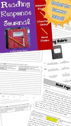 Perfect for Summer School -- no prep required! This Reading Response Journal can be used individually, in small groups, or as a whole-class, making it an ideal resource for independent reading, literature circles, or novel studies! This journal is packed with engaging prompts that encourage close reading, critical thinking, and meaningful writing. Model pages, grading rubric, learning objectives, and common core standards are included. #readingjournal #readingresponsejournal