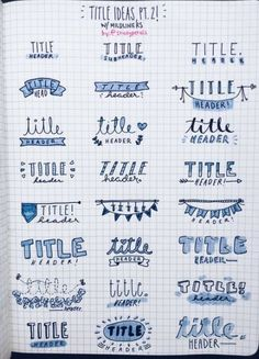 Bullet Journal Banners and Headers - Productive & Pretty B. - Bullet Journal Banners and Headers – Productive & Pretty Bullet journal banners and headers Calligraphy: A new Profitable Organization
