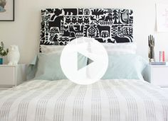 How to stuff a #duvet cover - so THAT's how you do it :-) no more crawling into the duvet cover for me! Liked @ www.homescapes-sd.com #homescapes #staging