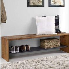 Loon Peak Arocho Rustic Solid Reclaimed Wood Storage Bench, wood, mud room, entry, organize, afflink