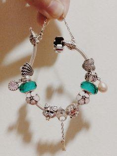 PANDORA teal pink bracelet ❤️ bijoux et charms à retrouver sur www.bijoux-et-charms.fr