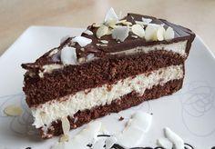 Bezglutenowy tort czekoladowy z kremem kokosowym