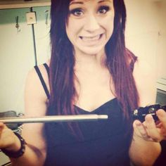 Jen Ledger - skillet she hits so hard, she broke a double bass peddle that was solid still. AWESOME!!