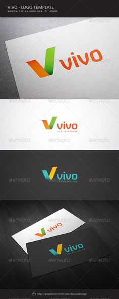 Vivo Logo  #GraphicRiver         Vivo is a clean, professional and elegant logo suitable for a business solutions agency, analytic services, a travel company, media resources, a communication corporation, technology group, development systems or any other business related. Features   2 color Variations: Orange-Green and Blue-Yellow  100% Editable & Re-sizable vectors  100% Fully editable text  Easily customizable colors  AI & EPS documents  The ZIP archive contains   A folder with Vivo Logo…