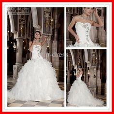 Ball Gown Sweetheart Layered Real Gorgeous Winter Wedding Dresses Bridal Gown xyy03-001,