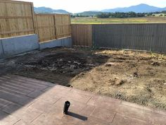 Hilltop Landscaping before photos