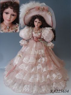 Beautiful victorian porcelain doll