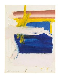 colin-vian:    Willem de Kooning (1904 - 1997) Untitled (blue profundity), 1958