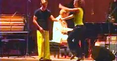 Piano Player Enlists 2 Dancers For A Stellar Boogie Woogie Routine via LittleThings.com