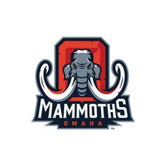 FXFL Omaha Mammoths Identity on Behance - American Logo Sport Theme