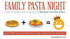 Make it a Barone's night! #pizza #AllYouCanEat #pasta #GlenEllyn Only at Barone's Pizza of Glen Ellyn! #Kentsdeals