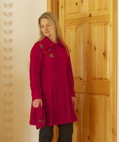 who would not want a red winter coat? Red Winter Coat, Winter Wear, Red Coats, Cherry Red, Plus Size, Trending Outfits, How To Wear, Vintage, Etsy