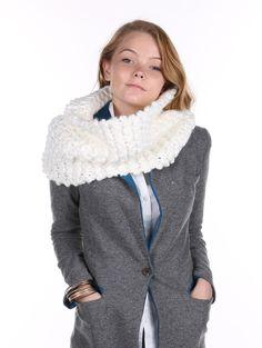 Fashion Jewelry Christmas Gift Ideas Scarf Hand Knit Infinity Neckwarmer 23 12 Inch Long X 15 12 Inch Wide 100% Acrylic One Size