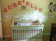 this was aubrielle's side of the nursery
