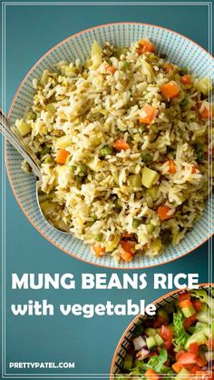 khichdi recipe, rice with vegetable & mung beans, indian rice, vegan, gluten free, vegetarian, low carb l www.prettypatel.com