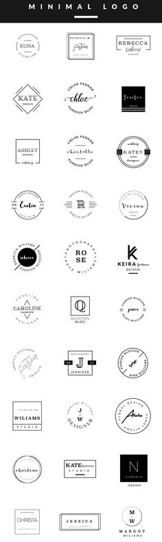 Feminine Logo Templates MINIMAL by Graphic Dash on @creativemarket More