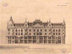 Parisian Architecture, German Architecture, Neoclassical Architecture, Classic Architecture, Architecture Drawings, Historical Architecture, Architecture Details, Architectural Prints, Architectural Antiques