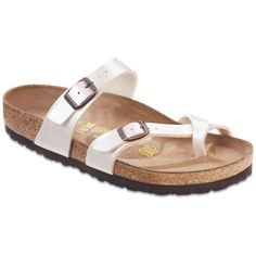 Suede-lined cork footbed combines with a cushy EVA sole to provide ultimate comfort in a casual sandal fashioned with adjustable straps for a custom fit. Cork, a buckle or two: these are the simple id