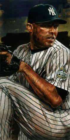 Yankees Mariano Rivera by Stephen Holland, Limited edition print Baseball Posters, Baseball Art, Yankees Fan, New York Yankees, Damn Yankees, Baseball Painting, Cub Sport, Mlb Teams, Derek Jeter