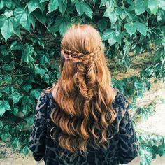 Half braided red hair