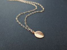 Tiny leaf gold , Simple delicate gold filled necklace | simplecrystal - Jewelry on ArtFire