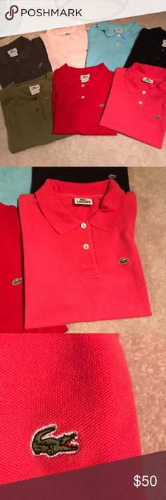 31d66a36d4a071 Lot of 7 Lacoste Polo Shirts Gently used Lacoste polo shirts. Womens—All  size
