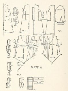 """Costumes from the first half of the From the public domain book, """"Instruction book. Pattern Cutting, Pattern Making, Clothing Patterns, Sewing Patterns, Dress Patterns, Patron Vintage, Art Deco Dress, Modelista, Art Textile"""