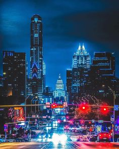Hot nights + city lights ✨ 📸: by Congress
