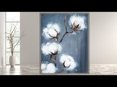 Easy Flower Painting, Acrylic Painting Flowers, Acrylic Art, Acrylic Painting Canvas, Canvas Paintings, Abstract Paintings, Landscape Paintings, Canvas Painting Tutorials, Diy Canvas Art