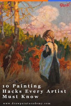 10 Painting Hacks Every Artist Should Know. These are perfect for beginner artists looking for some tips to get them started. If you have any painting hacks of your own, please share them in the comments. via @drawpaintacadem