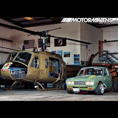 Datsun 260, and a Huey, great couple
