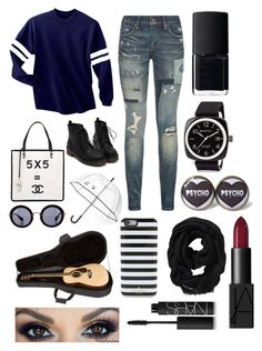 """""""Untitled #127"""" by giannarosem ❤ liked on Polyvore featuring Polo Ralph Lauren, Chanel, Kate Spade, Miu Miu, Old Navy, Briston and NARS Cosmetics"""