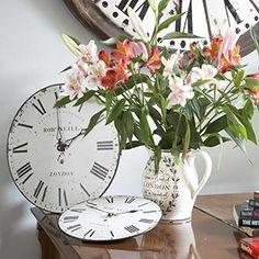 Roger Lascelles - Stylish flea-market-feel wall clocks