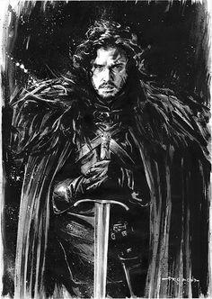 Game of Thrones - Jon Snow by Drummond Art *