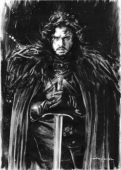 Game of Thrones - Jon Snow by Drummond Art *