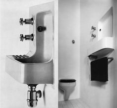 IKB: Ike Kligerman Barkley New York & San FranciscoIke Kligerman Barkley (IKB) is an architecture and interior design firm based in New York City and San Francisco providing high end residential design. Outside Toilet, Attic Bathroom, Bathrooms, Toilet Room, Downstairs Toilet, Wash Hand Basin, Sink Design, Barbican, Changing Room