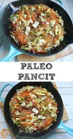 Paleo Pancit - pancit is a Filipino noodle dish that is SO delicious. It's an easy dinner, lunch or side dish!