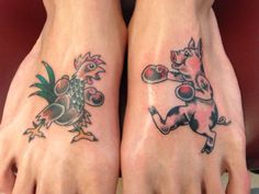 Traditionally sailors would tattoo a pig and rooster on for Tattoo ole copenhagen