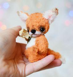 OOAK ARTIST Orange Baby Fox  Dean 3 INCH by by lollipopbears