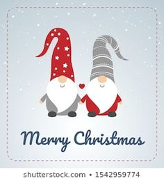Find Christmas Card Scandinavian Gnomes Couple Happy stock images in HD and millions of other royalty-free stock photos, illustrations and vectors in the Shutterstock collection. Swedish Christmas, Merry Christmas Card, Christmas Gnome, Christmas Cross, Christmas Holidays, Christmas Ornaments, Xmas, Gnome Images, Scandinavian Gnomes