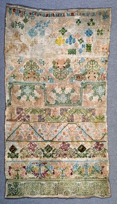 Sampler, mid-17th century