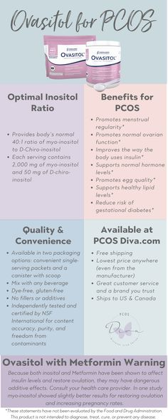 Ovasitol for PCOS [Infographic] - PCOS Diva For more about the benefits of Ovasitol and inositols: Listen to my podcast with Dr. Ratner: Answers About Ovasitol, Inositols & Male Fertility Read: Why I (Still) Use Ovasitol – C Inositol Benefits, Polycystic Ovarian Syndrome, Stomach Ulcers, Coconut Health Benefits, Pcos Diet, Hormonal Acne, Thing 1, Natural Cures, Natural Remedies