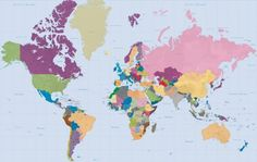 Navy world map wallpaper zulily maps charts unique colourful world map gumiabroncs Gallery