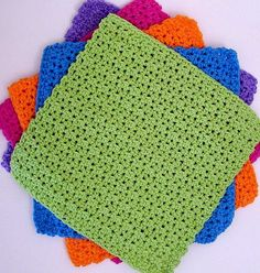 What a great looking pattern! It's all out the bright colors, perfect size, easy pattern and beautiful results. Plus you can easily bundle a few together and offer them as a gift. Super easy and fast the JustRight and BigTime Dishcloths by Deborah Ellis Really is a simple pattern, but fun. ———————————————————– Materials: Approximately 1.5 …