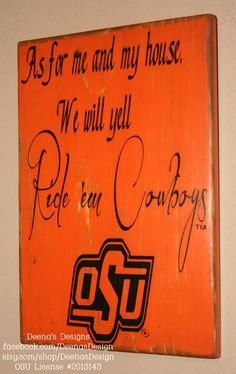 Oklahoma State University Wall Art OSU Cowboys by DeenasDesign, $36.00