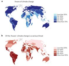 These maps are the first to reveal what the world thinks of climate change, and it's startling